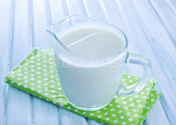 Latte fresco vetro mucca latte mangiare cottura Foto d'archivio © tycoon