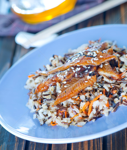 fried eel with rice Stock photo © tycoon
