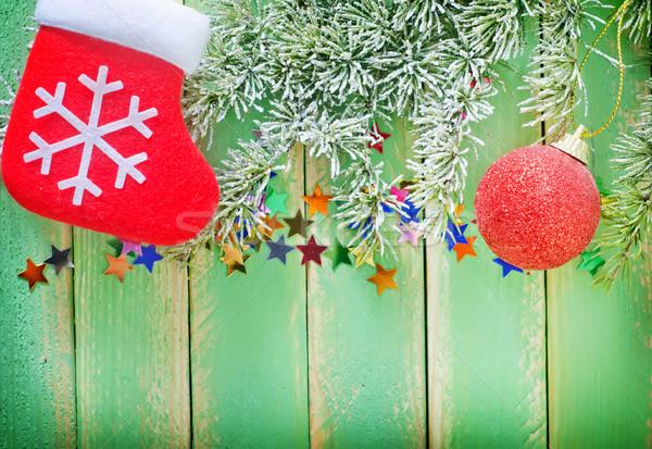 Natale decorazione legno natura finestra verde Foto d'archivio © tycoon