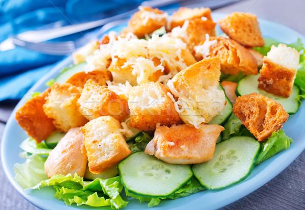 Gıda meme tavuk ekmek akşam yemeği Stok fotoğraf © tycoon