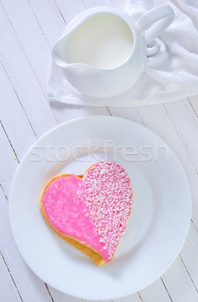 Cookie madera Navidad postre rosa vacaciones Foto stock © tycoon