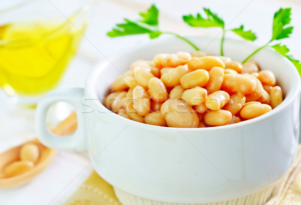 white beans in bowl Stock photo © tycoon