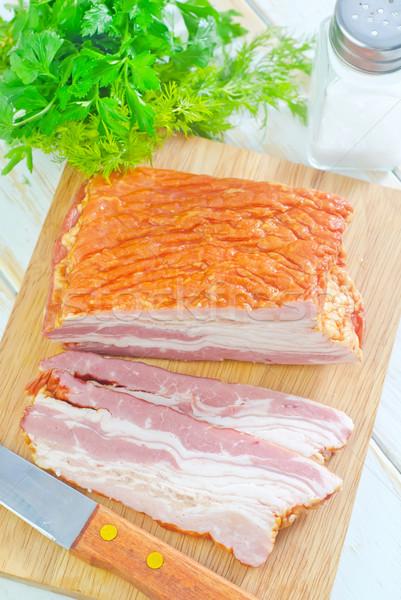 Fumado bacon comida fundo gelo jantar Foto stock © tycoon