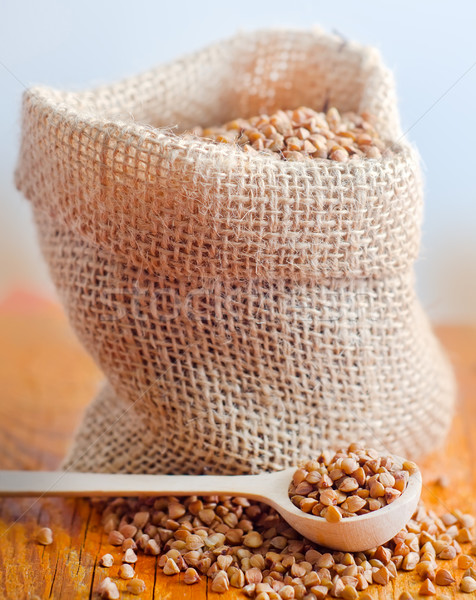 Raw buckwheat, portion of the  buckwheat Stock photo © tycoon