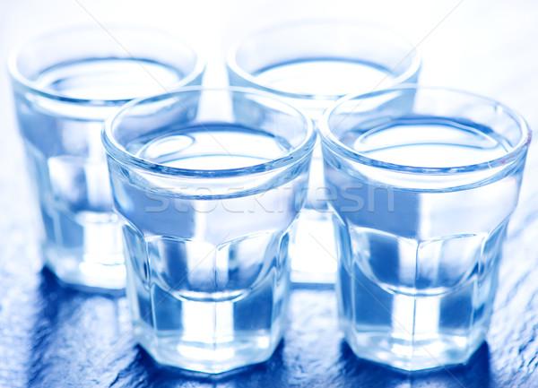 Wodka klein bril tabel glas achtergrond Stockfoto © tycoon