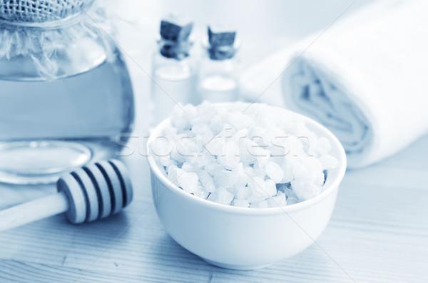 Zeezout natuur zee gezondheid Blauw massage Stockfoto © tycoon