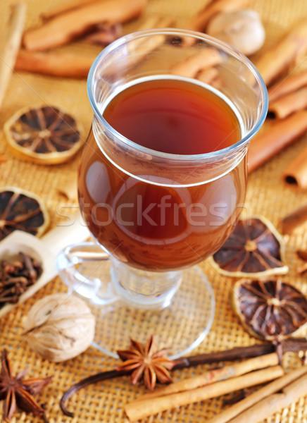 Aroma fűszer kávé fény háttér kávézó Stock fotó © tycoon