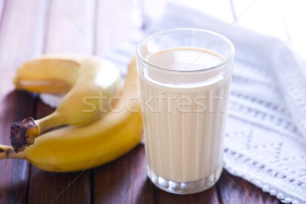 milk with banana Stock photo © tycoon