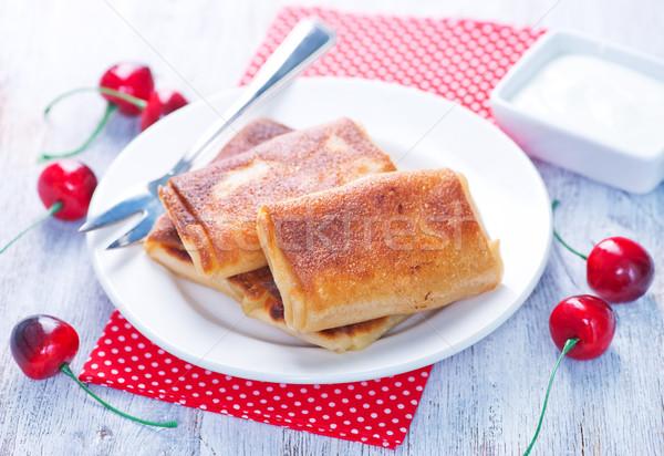 fresh pancakes Stock photo © tycoon