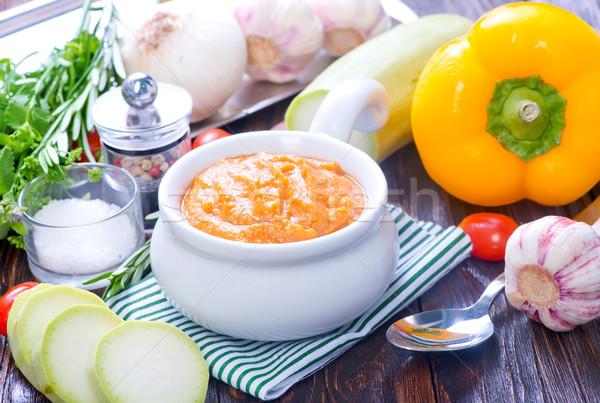Sebze havyar çanak tablo gıda yaz Stok fotoğraf © tycoon