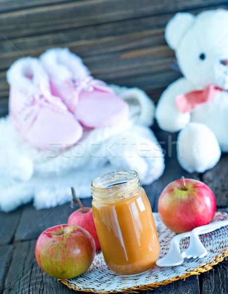 Bebek maması banka tablo gıda çocuklar oyuncak Stok fotoğraf © tycoon
