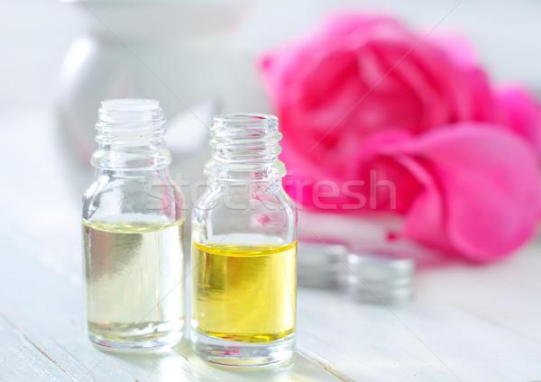 Zdjęcia stock: Wzrosła · oleju · zdrowia · butelki · czyste · reklamy
