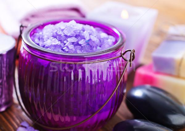 Estância termal objetos massagem Óleo banho chuveiro Foto stock © tycoon