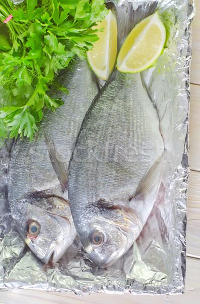 Peixe comida olho madeira natureza Foto stock © tycoon