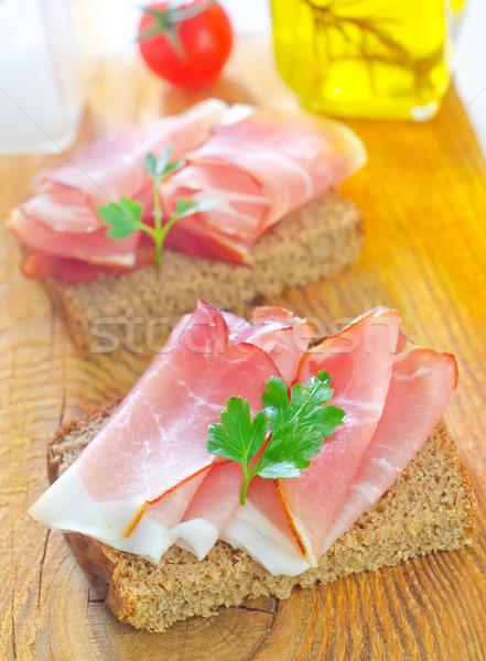 Sanduíche presunto luz carne rápido fresco Foto stock © tycoon