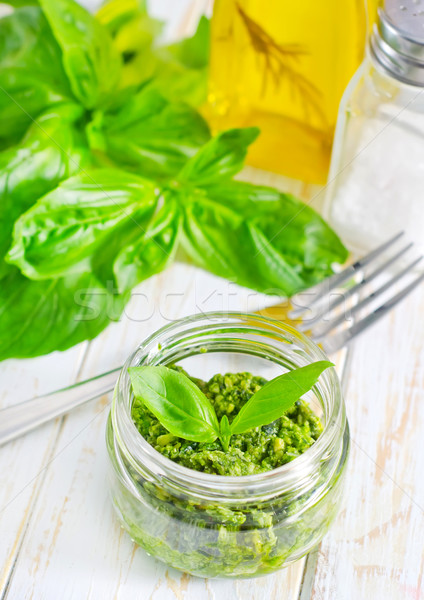 Pesto fromages blanche herbes luxe ail Photo stock © tycoon
