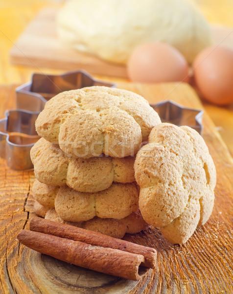 Fresh sweet cookies with cinnamon Stock photo © tycoon