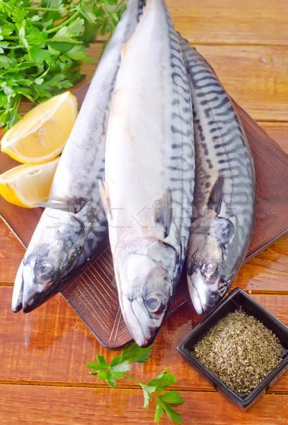 Nyers hal természet gyümölcs hús halászat Stock fotó © tycoon