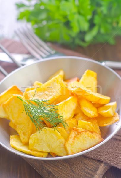 картофеля жареный домой фон металл обеда Сток-фото © tycoon