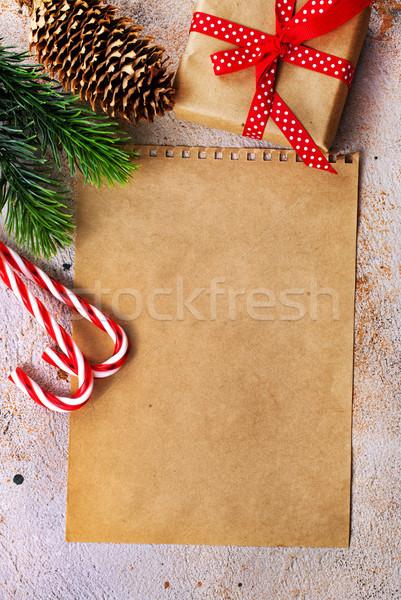 Christmas presenteert papier boom voedsel ontwerp Stockfoto © tycoon