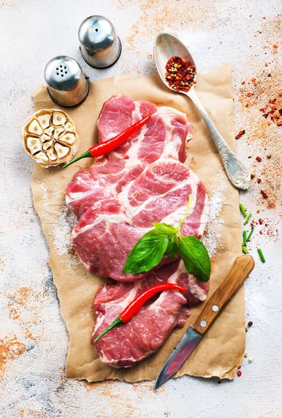 сырой мяса Spice соль бумаги продовольствие Сток-фото © tycoon