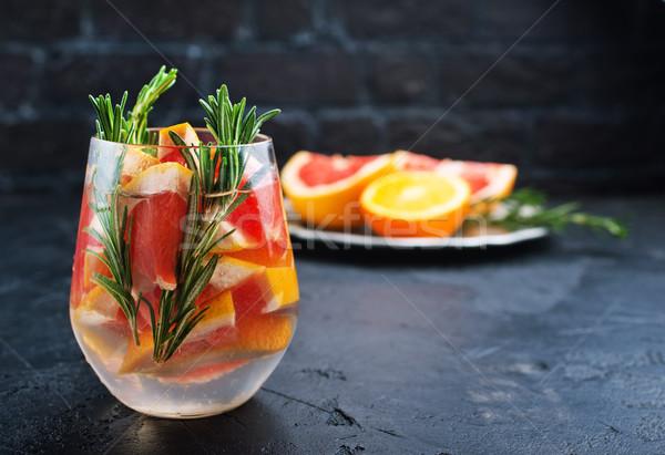 Ital citrus grapefruit rozmaring gin koktél Stock fotó © tycoon