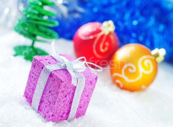 Stok fotoğraf: Noel · dekorasyon · dizayn · kırmızı · altın · renk