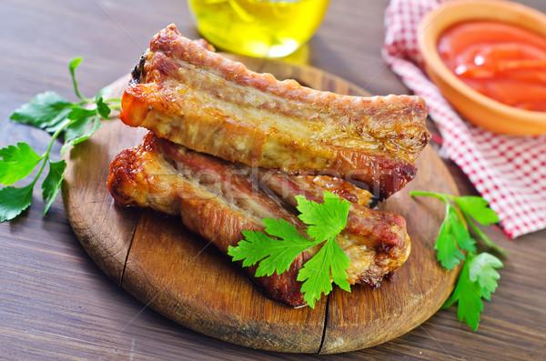 Cordeiro bife churrasco refeição prato Foto stock © tycoon