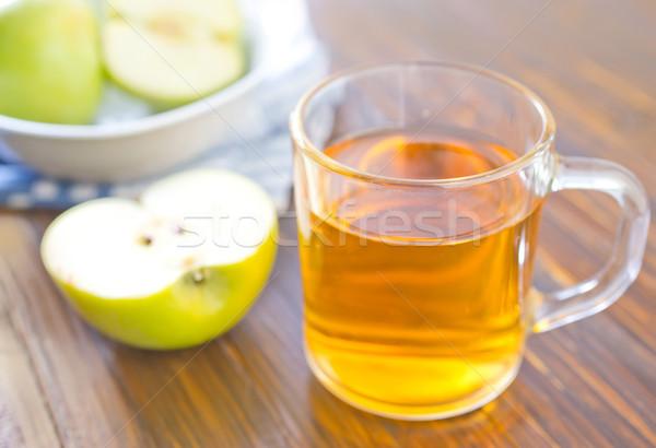 リンゴジュース 木材 リンゴ 背景 夏 表 ストックフォト © tycoon