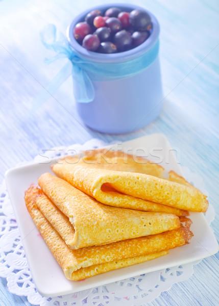 Foto stock: Leche · rojo · tenedor · frescos · dulce