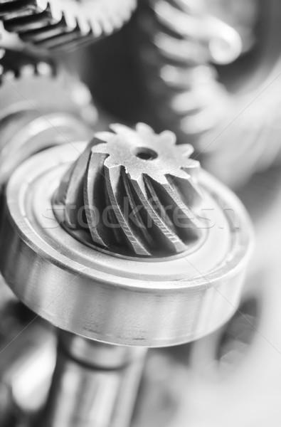Nozes tecnologia energia máquina aço engrenagem Foto stock © tycoon