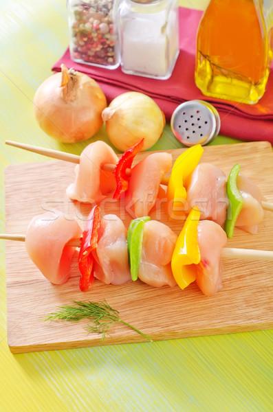 Frango quibe legumes prato carne cozinhar Foto stock © tycoon