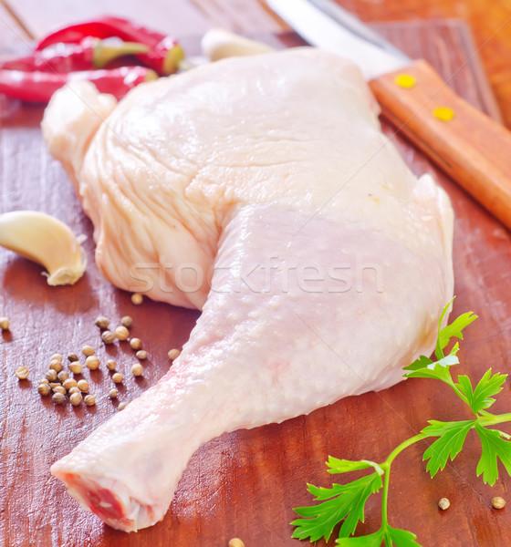 Ruw kip been steeg vlees huid Stockfoto © tycoon