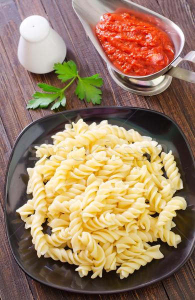 Tészta textúra étel vacsora fekete szín Stock fotó © tycoon