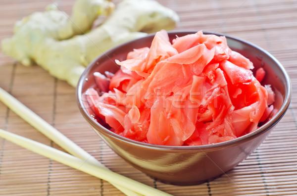 имбирь продовольствие красный приготовления Японский Кука Сток-фото © tycoon