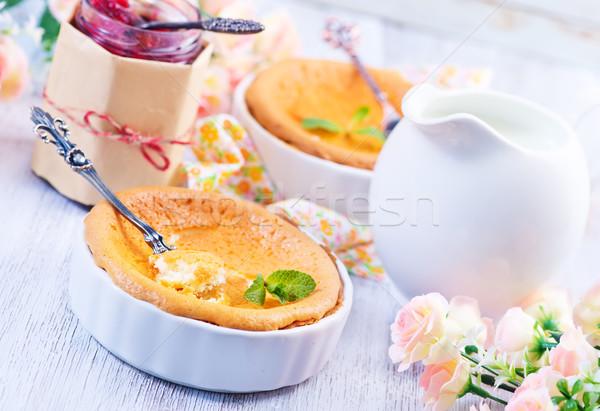 Tarta de queso tarta de queso atasco mesa alimentos fondo Foto stock © tycoon