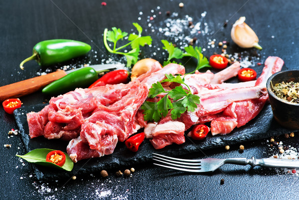 raw meat Stock photo © tycoon