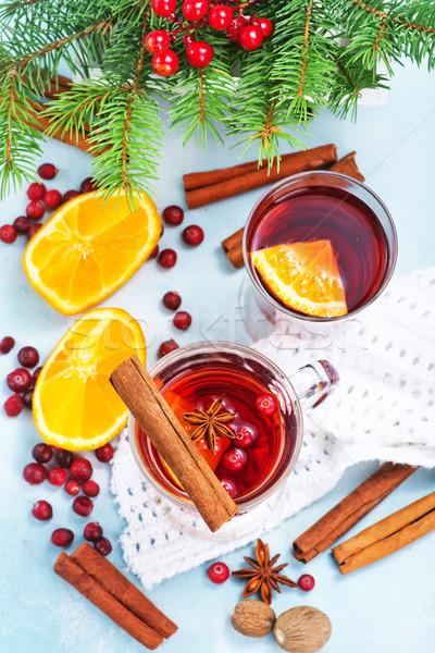 Navidad beber frutas especias vino Foto stock © tycoon