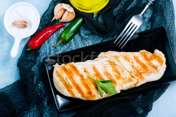 Mama placa mesa alimentos fondo Foto stock © tycoon