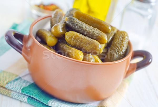Cena cocina hamburguesa saludable pepino especias Foto stock © tycoon