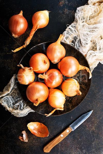 Cipolla tavola greggio cipolle stock foto Foto d'archivio © tycoon