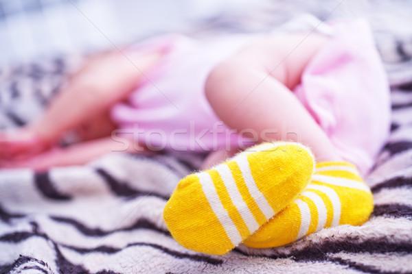 Pieds nus bébé pied pieds petite fille enfant Photo stock © tycoon