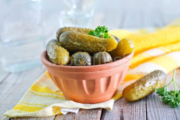 pickled cucumber Stock photo © tycoon