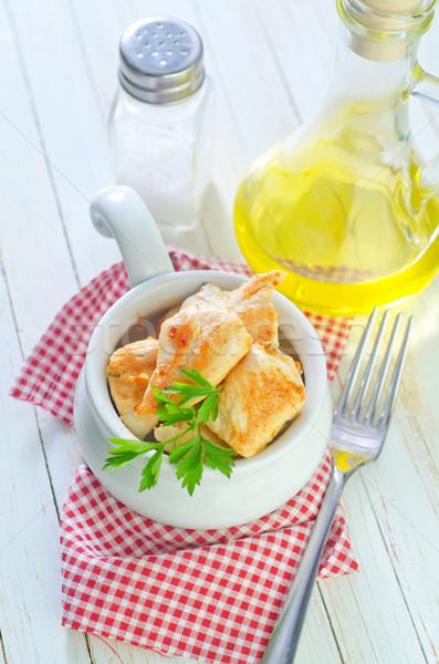 Frango assado filé peito prato carne jantar Foto stock © tycoon