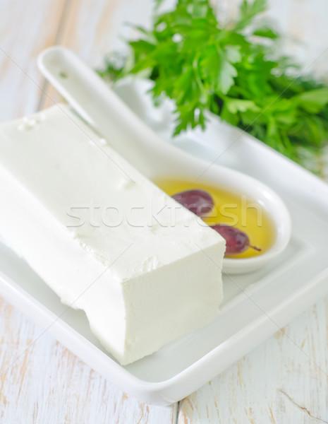 Fetasajt étel konyha olaj saláta paradicsom Stock fotó © tycoon