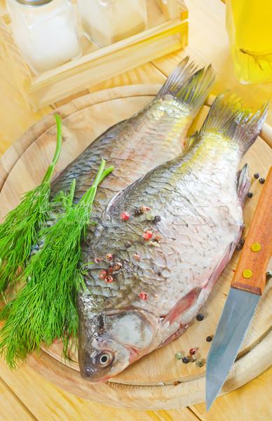 Taze sazan gıda şarap mutfak okyanus Stok fotoğraf © tycoon