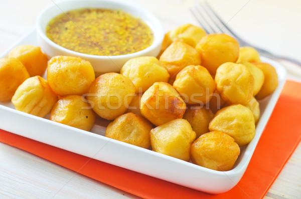 ストックフォト: ジャガイモ · チーズ · ディナー · ホット · 皿