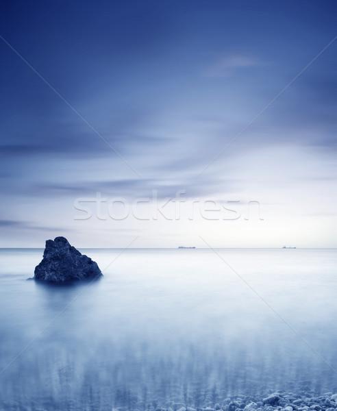 Photo stock: Mer · ciel · lumière · beauté · orange · océan