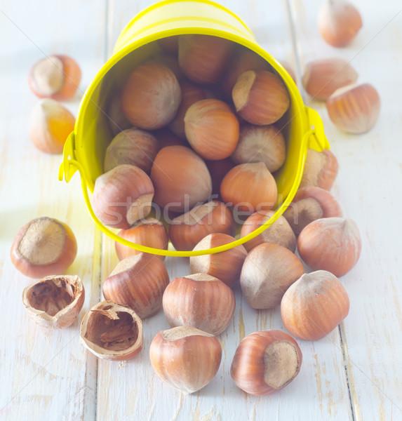 Mogyoró egészség háttér kövér kagyló fehér Stock fotó © tycoon