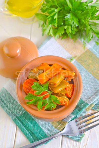 Foto stock: Hortalizas · alimentos · pan · carne · chino